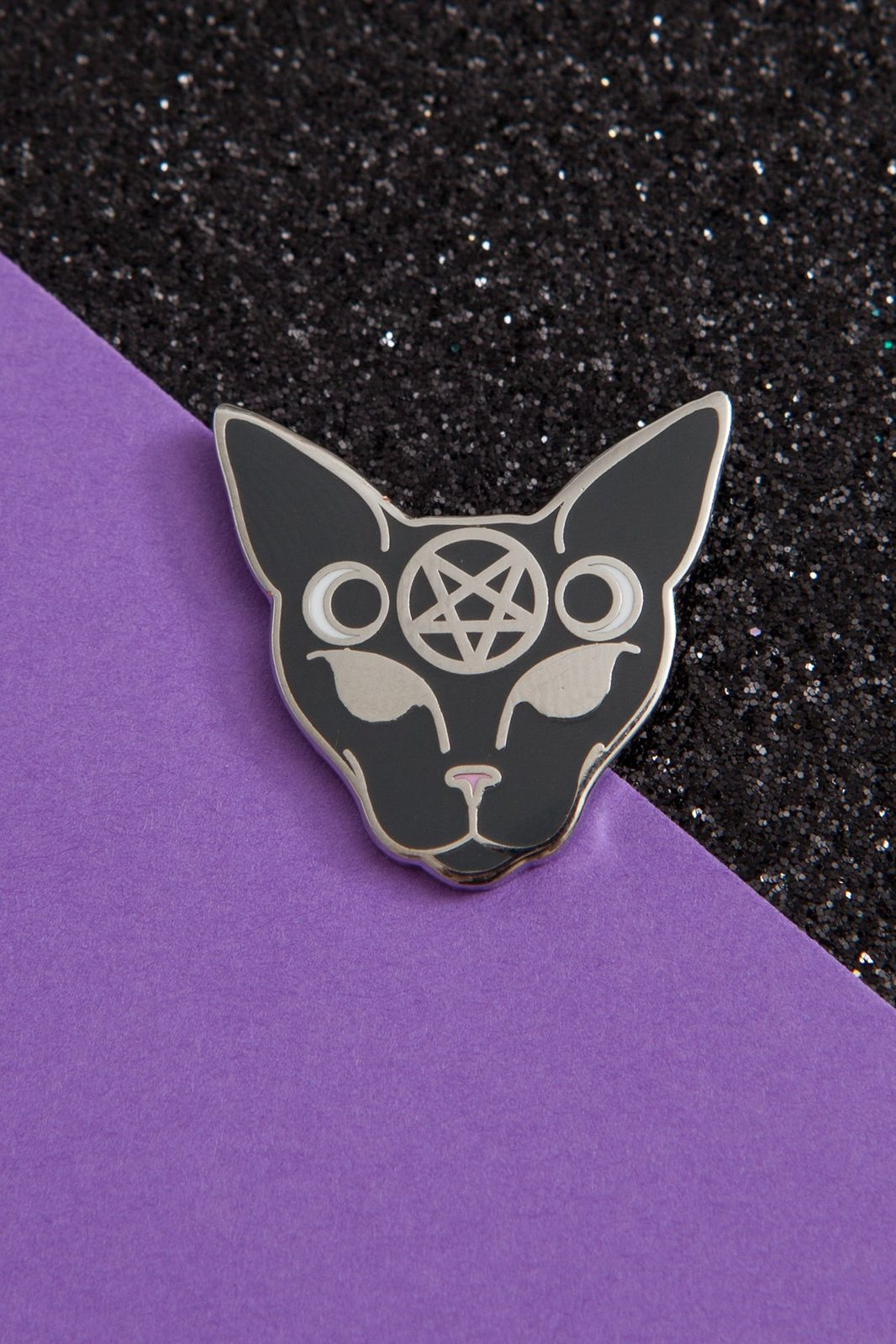 Gothic Cat Enamel Pin