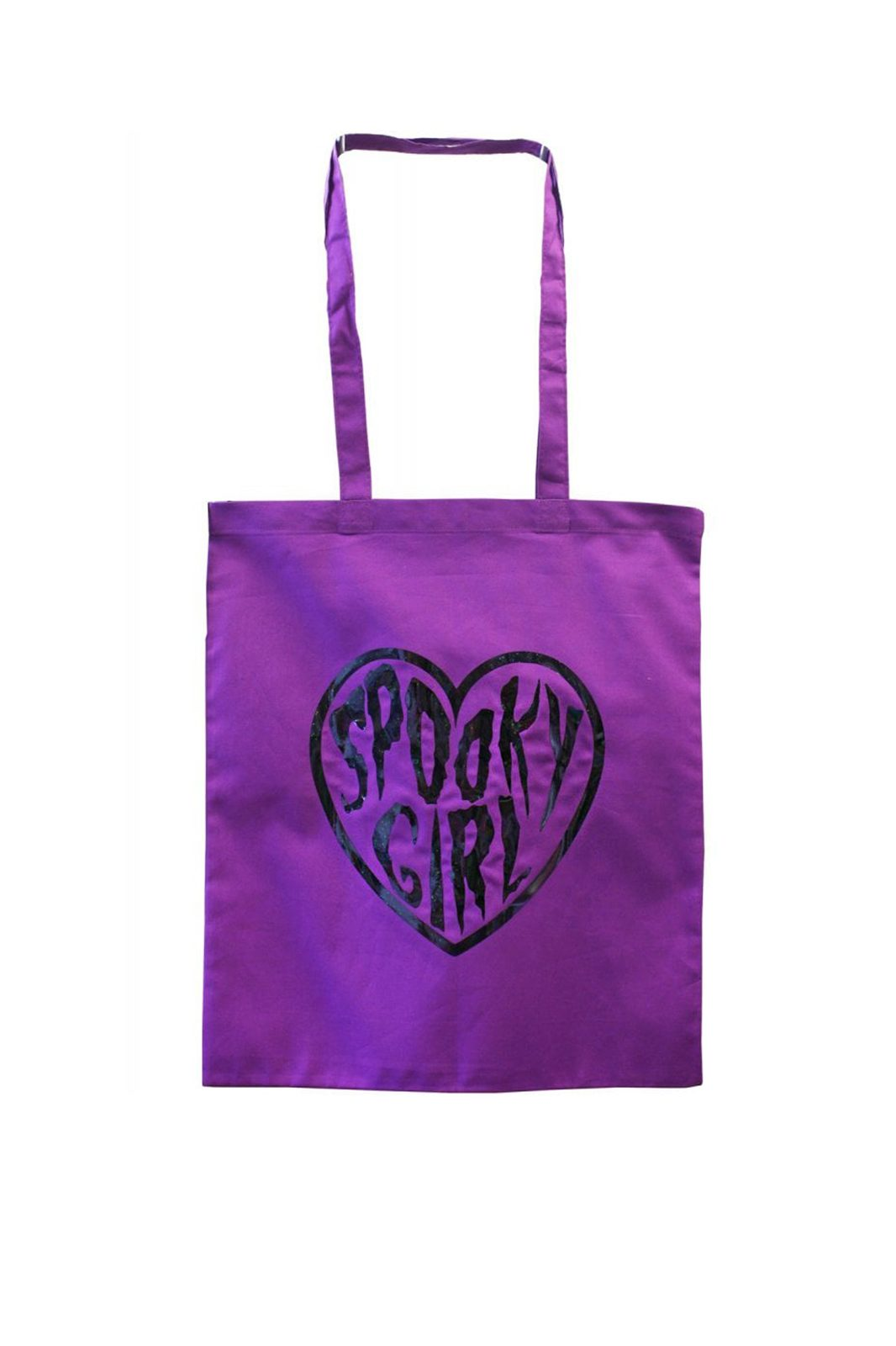 Spooky Girl Purple Tote Bag