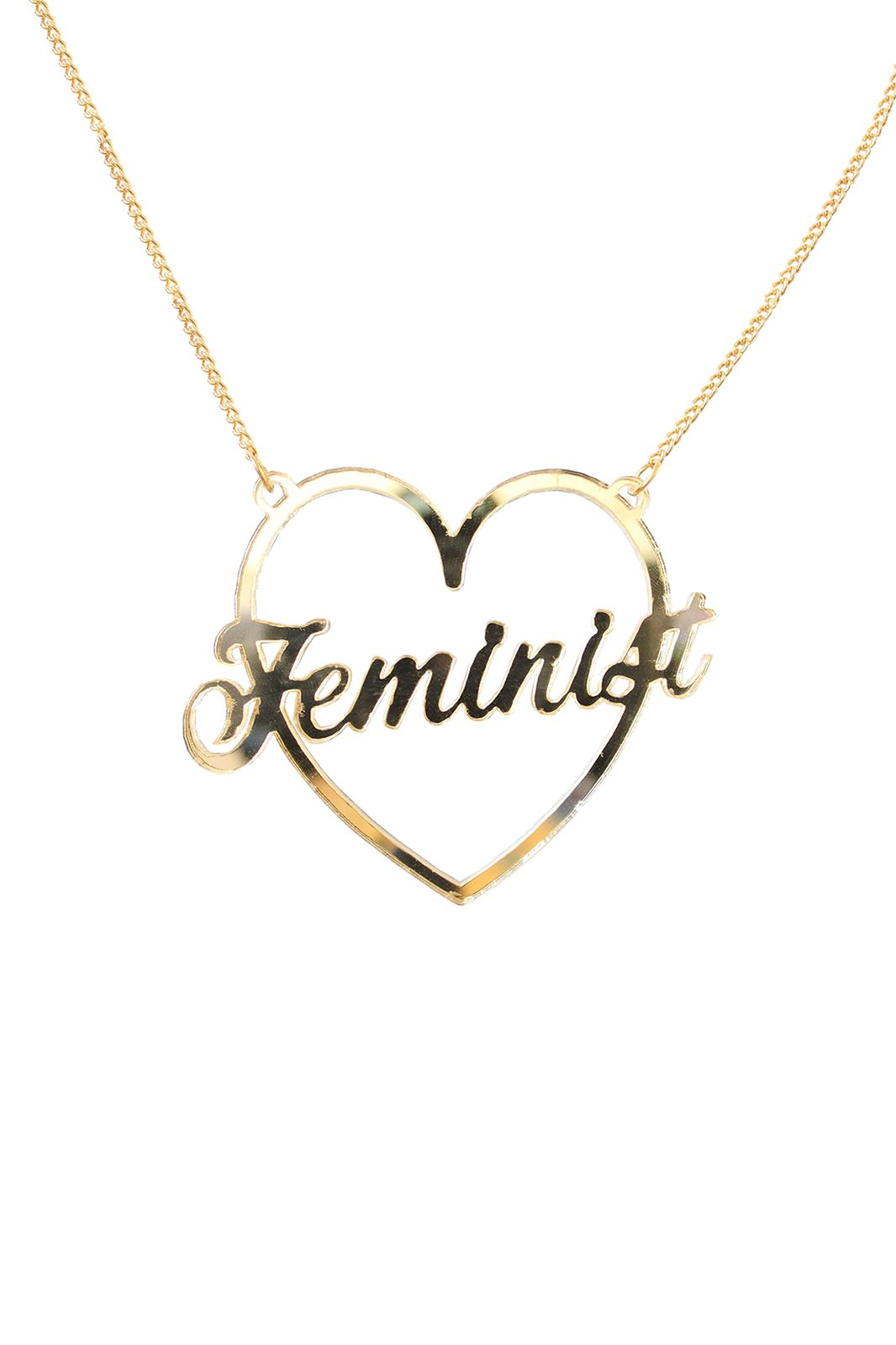 Perspex Feminist Necklace