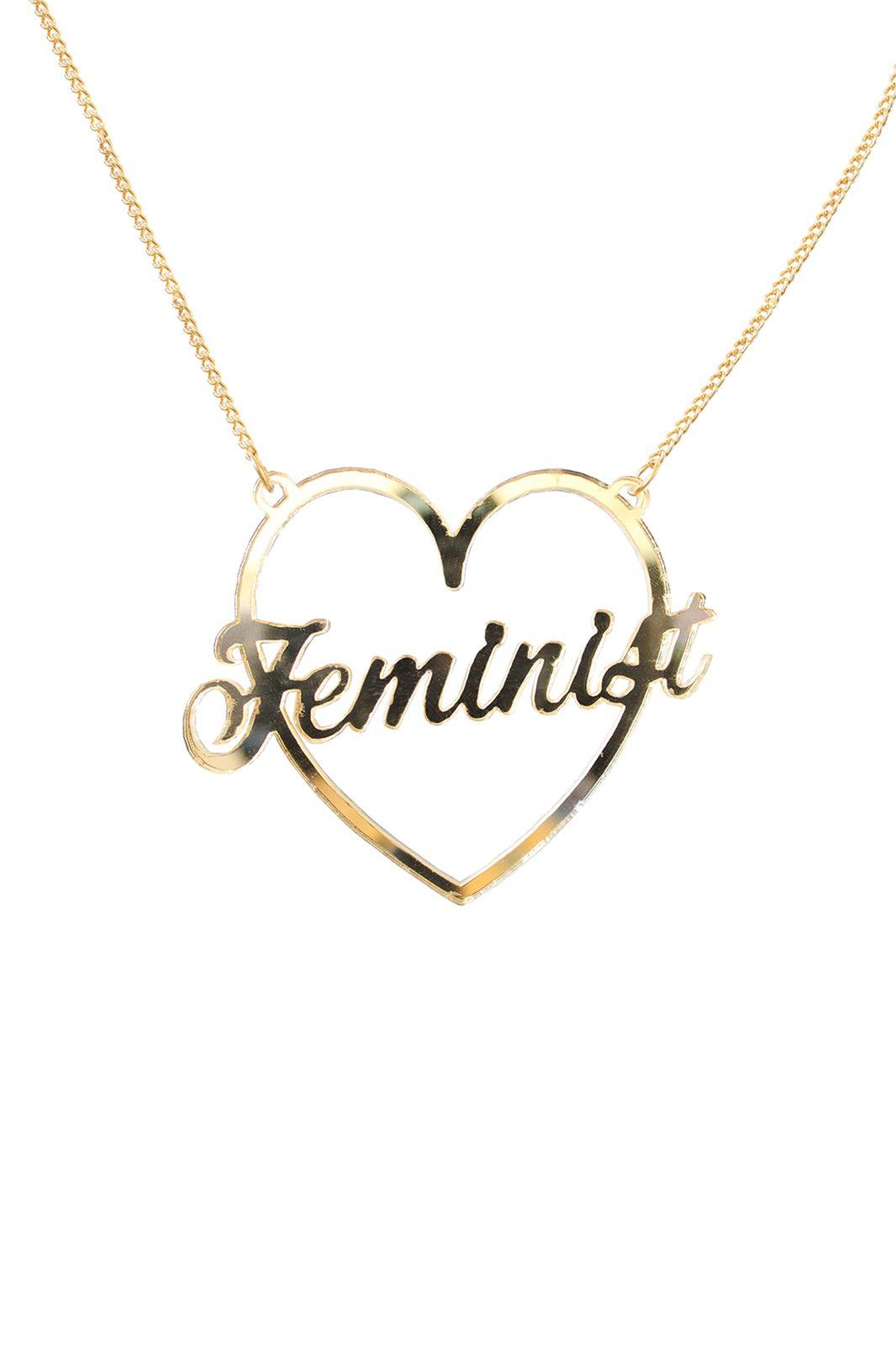 Perspex Feminist Necklace