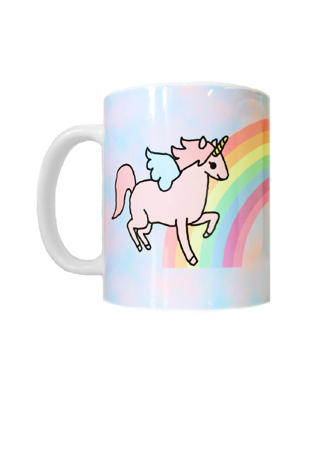 Unicorn With Rainbow Mug