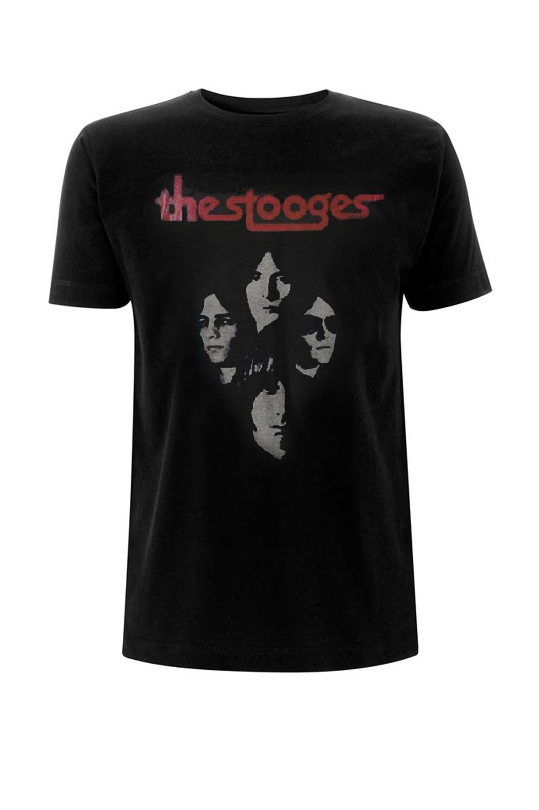 Tee Stooges the Faces Black