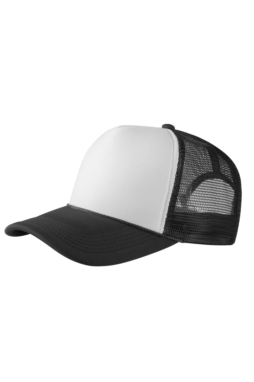Baseball Cap Trucker High Profile Black/white