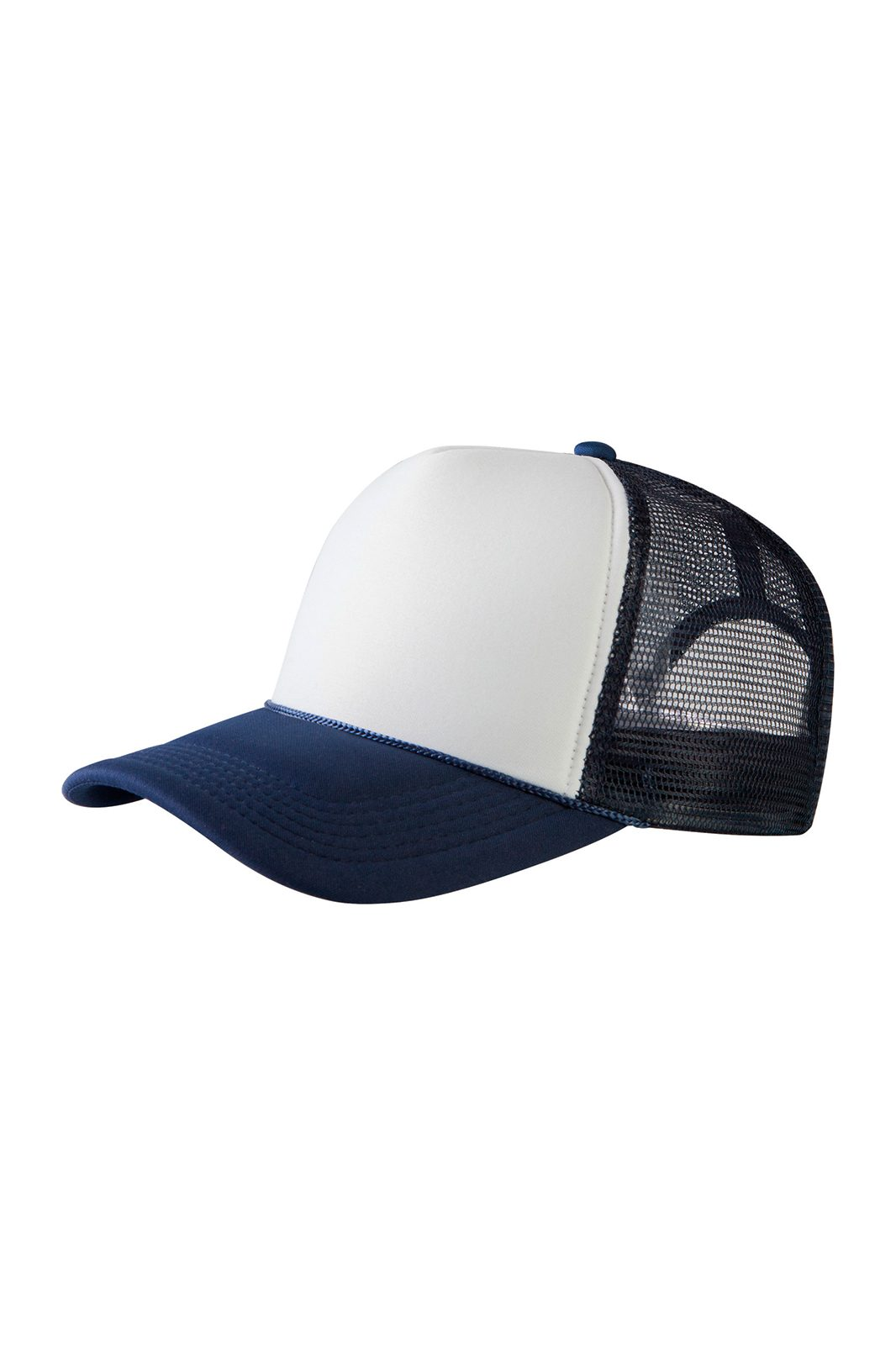 Baseball Cap Trucker High Profile Navy/White