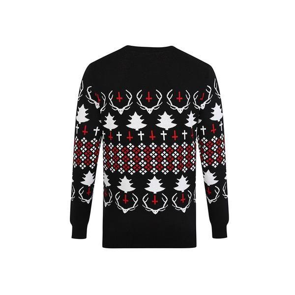 Hail Santa Xmas Jumper Black