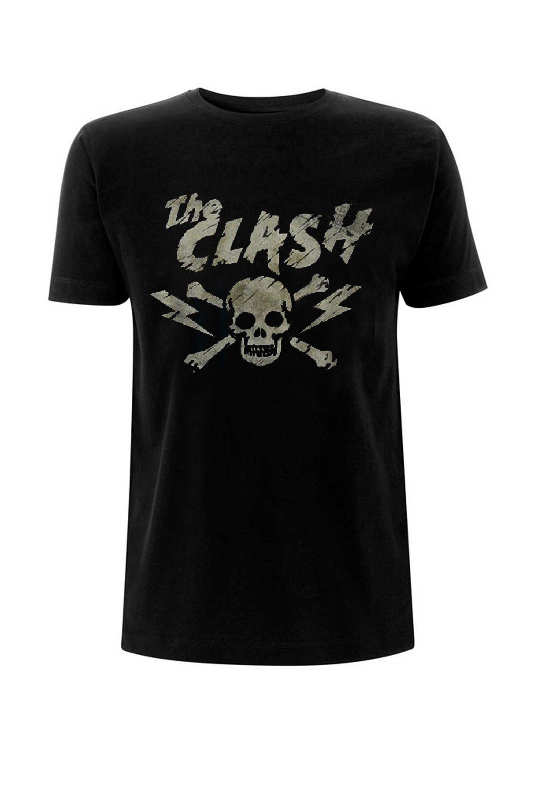 Tee Clash The Grunge Skull Black