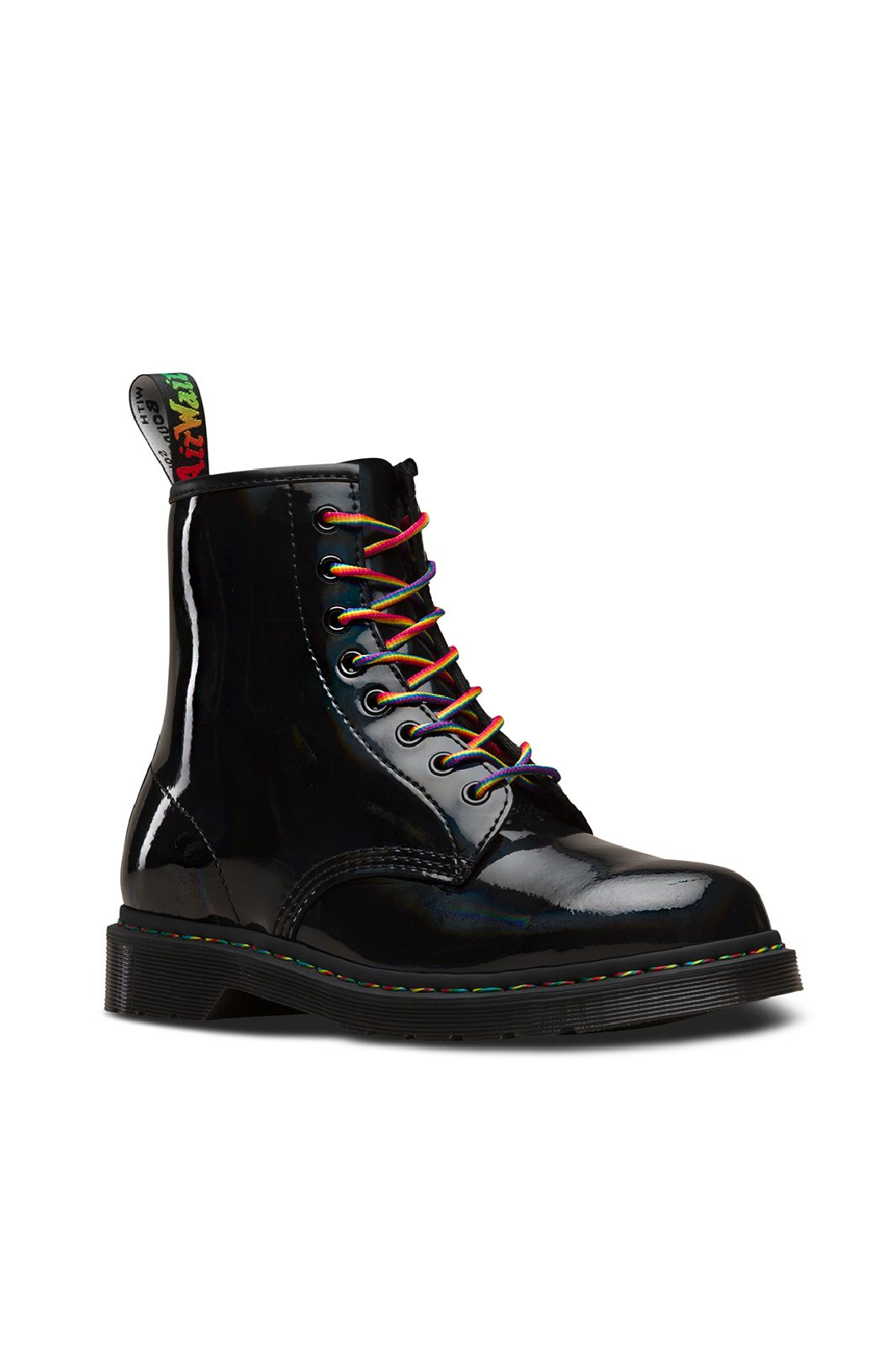 1460 Rainbow Patent Black