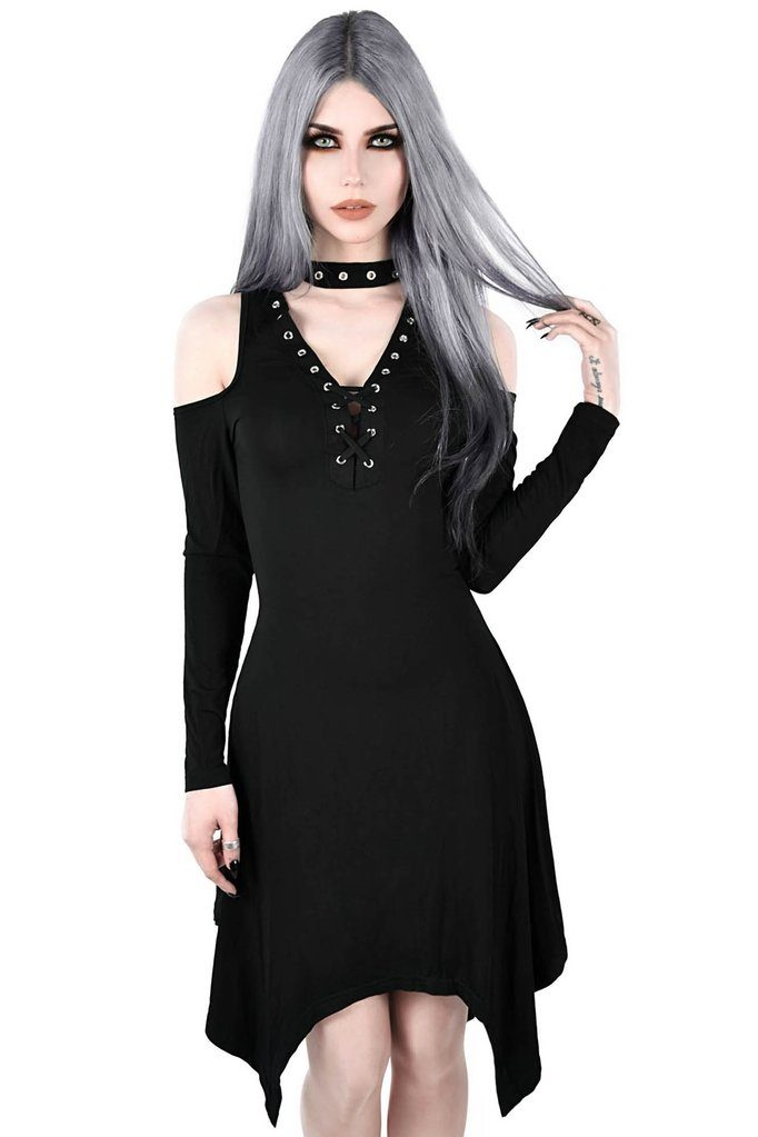 Onyx Fall Deep Dress Black