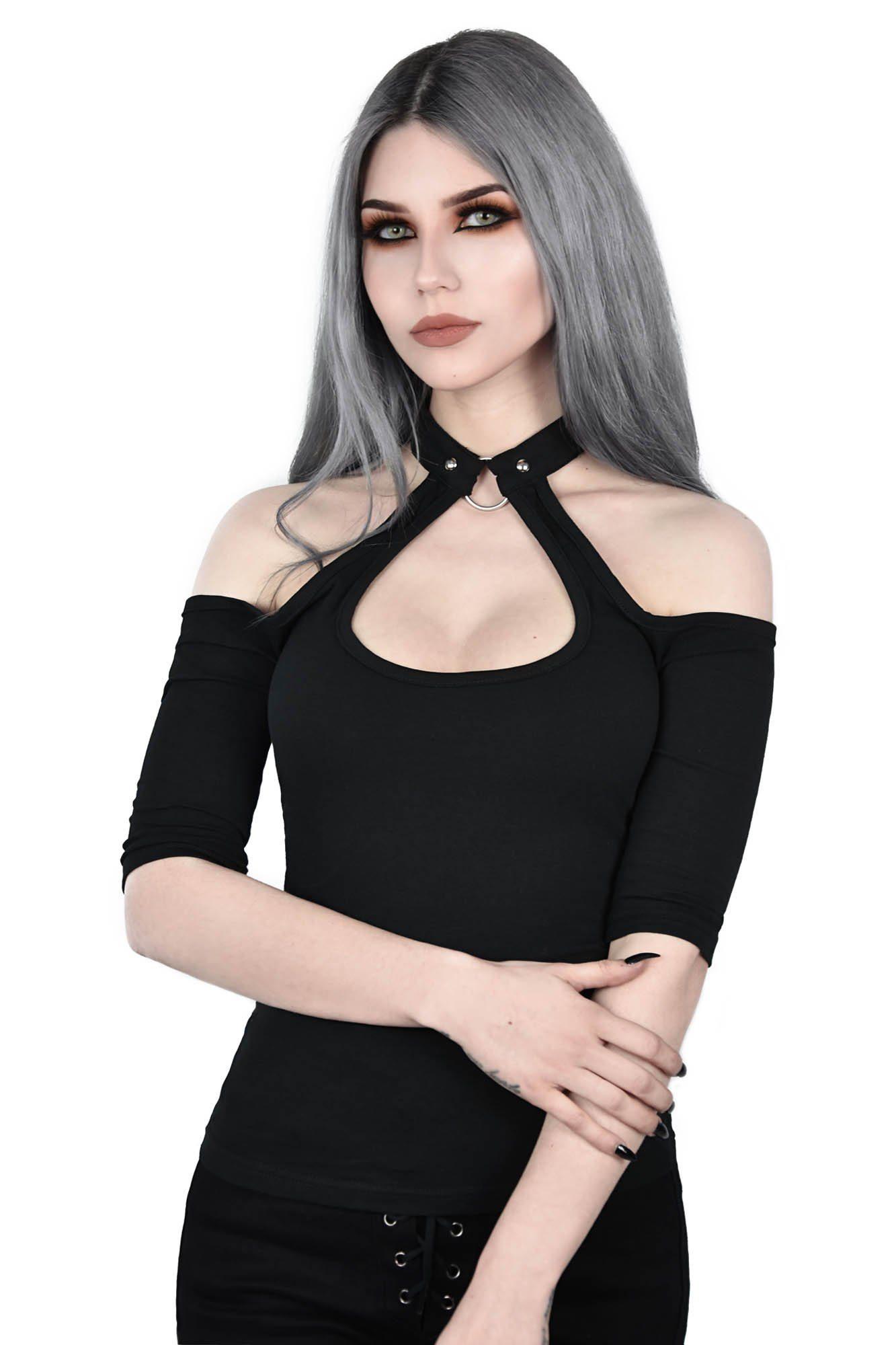 Seraphina Choker Top Black