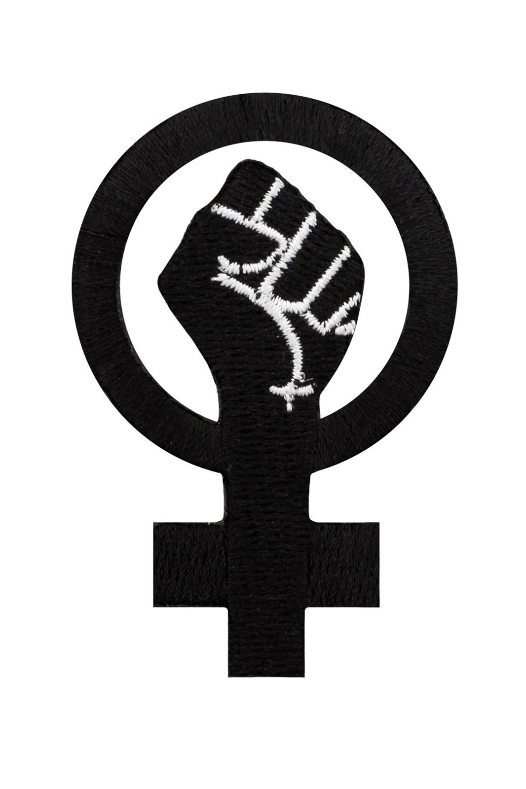 Feminist Symbol Patch Black