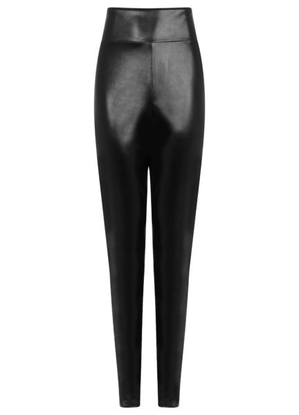 Vinyl Trousers Black
