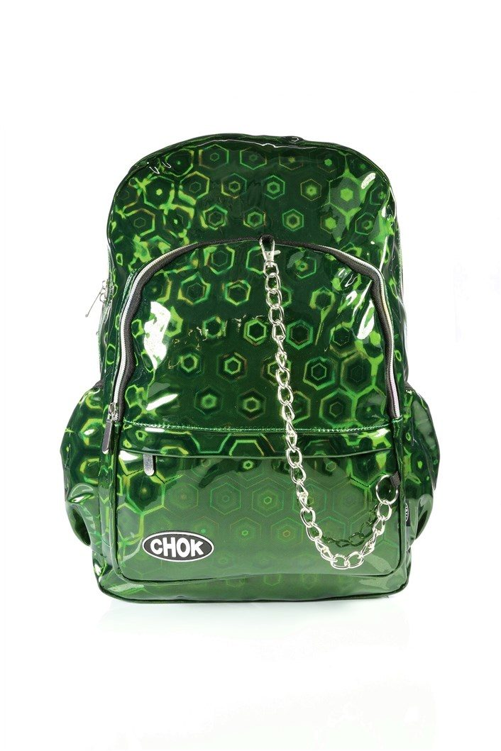 Holographic Green Backpack