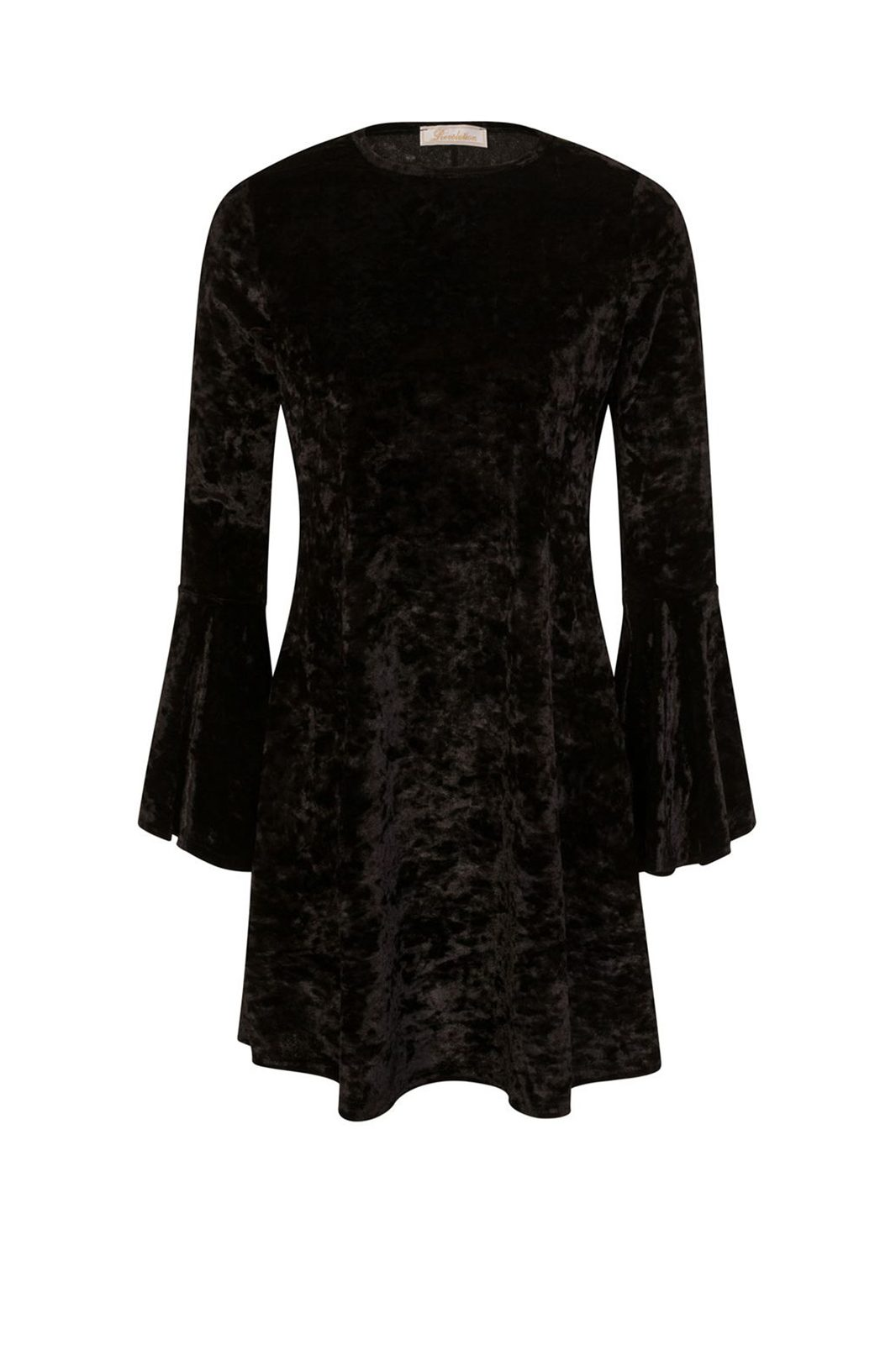Velvet Revolution Skater Dress Black