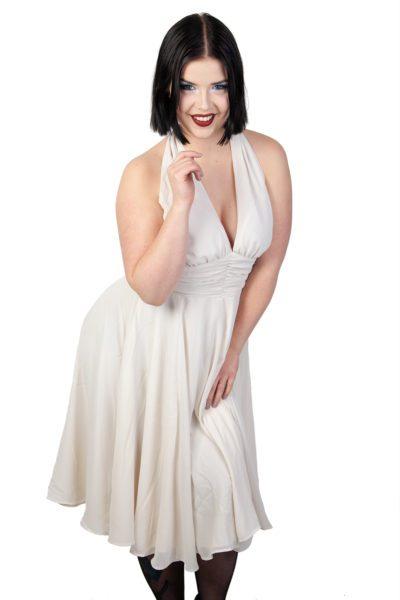 Monroe Dress Cream White