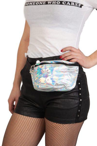 Silver Hologram Bum Bag