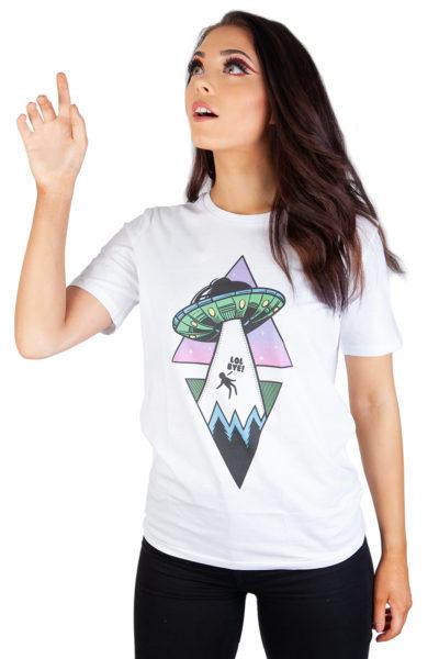 Alien Abduction T-shirt White