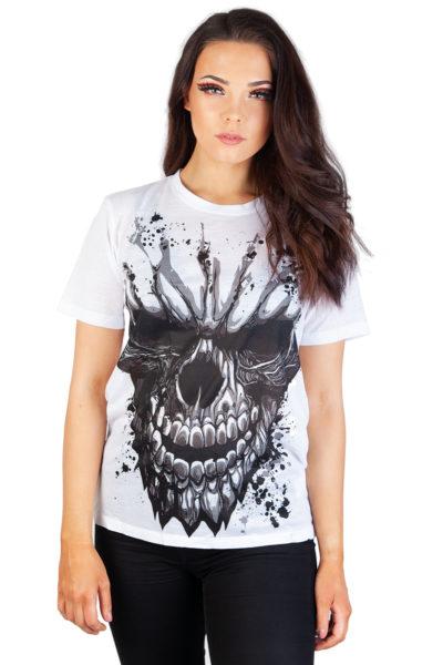 Carved Skull Sub T-Shirt White