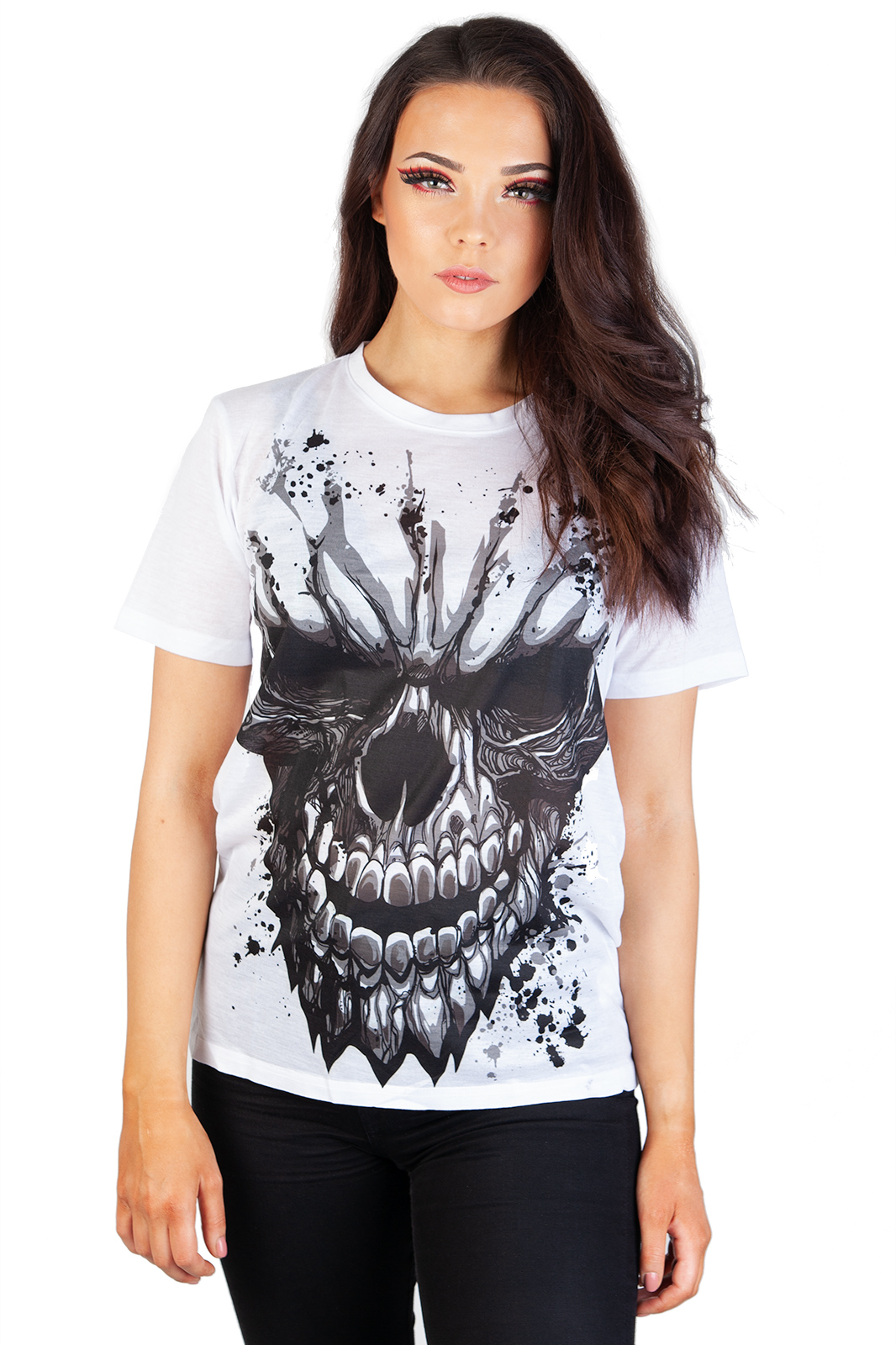 Carved Skull Sub T-Shirt White