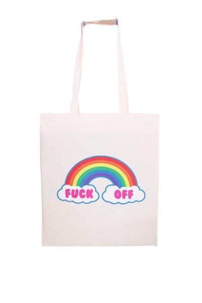 Fuck Off Rainbow Tote Bag