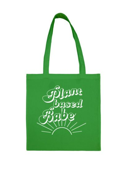 Tote Bag Plant Based Babe Green
