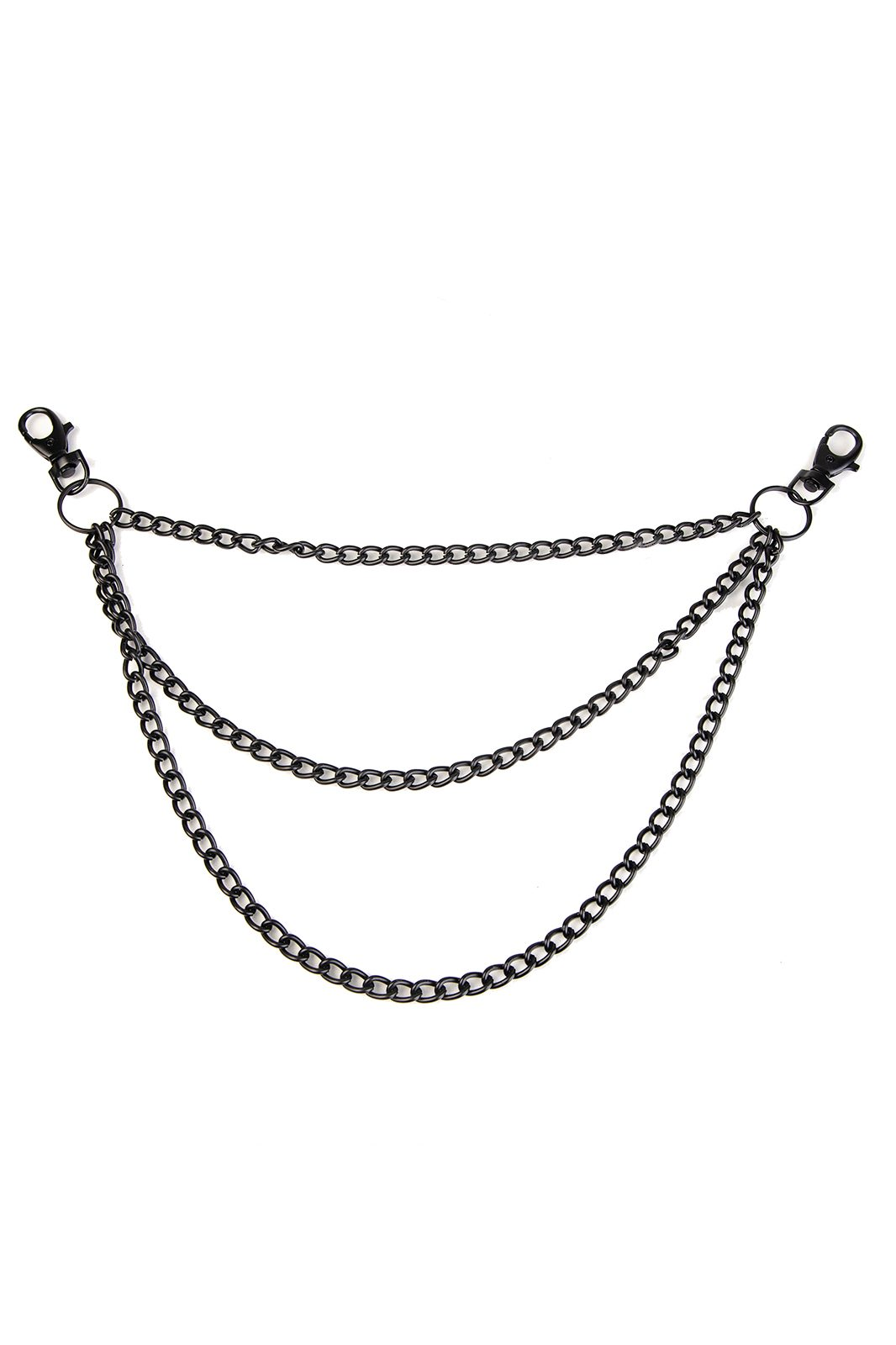 Triple Metal Chain Black