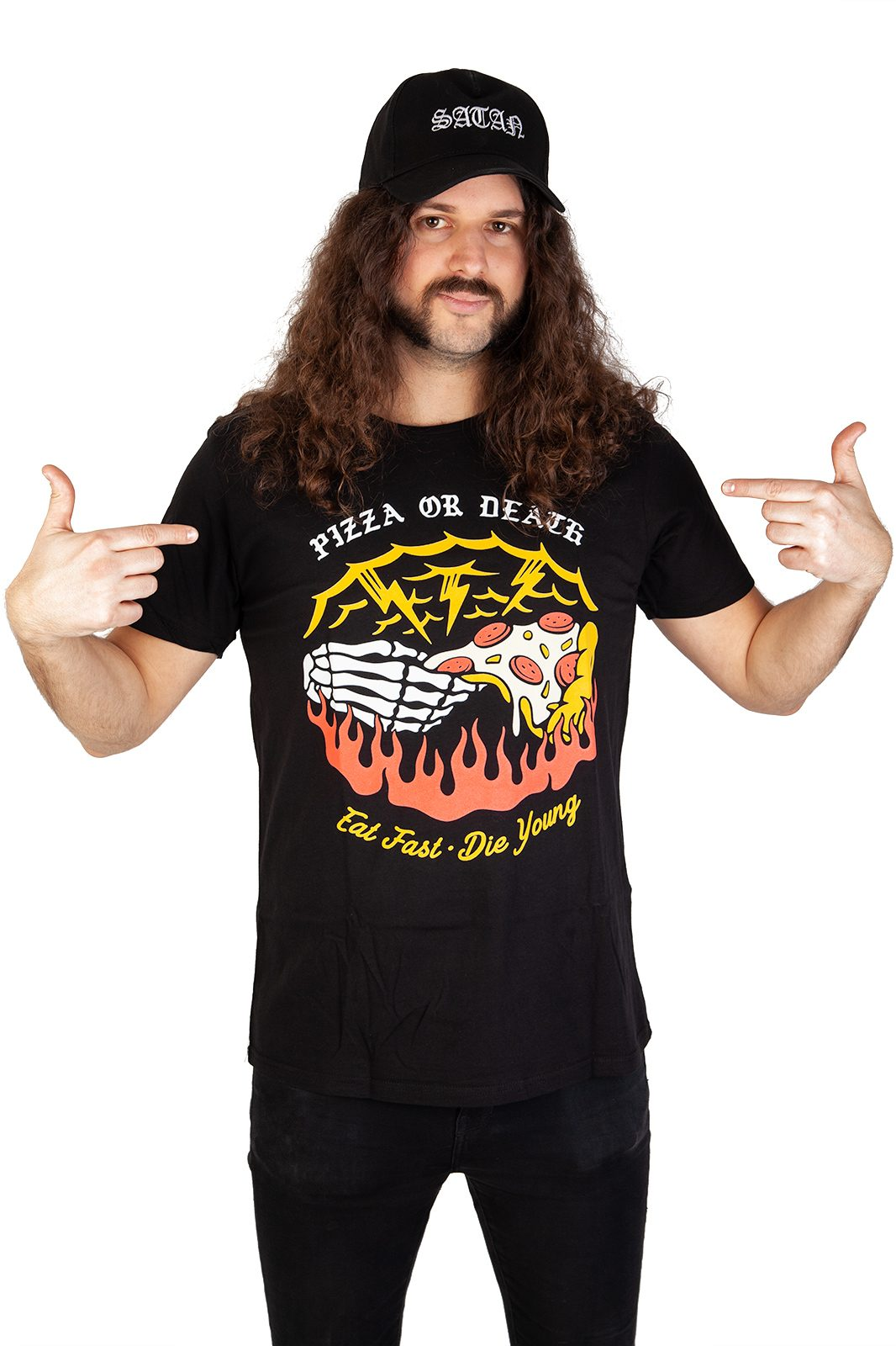 Tee Pizza Or Death Black