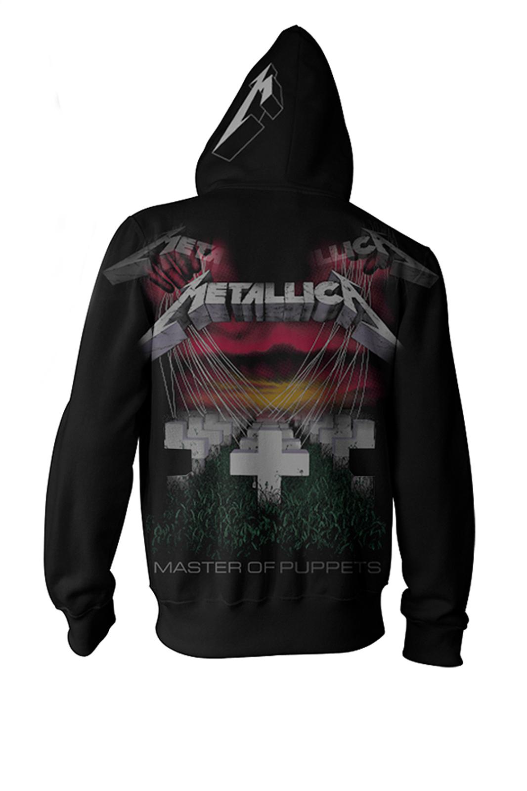 Zip Hood Metallica Master Of Puppets Black