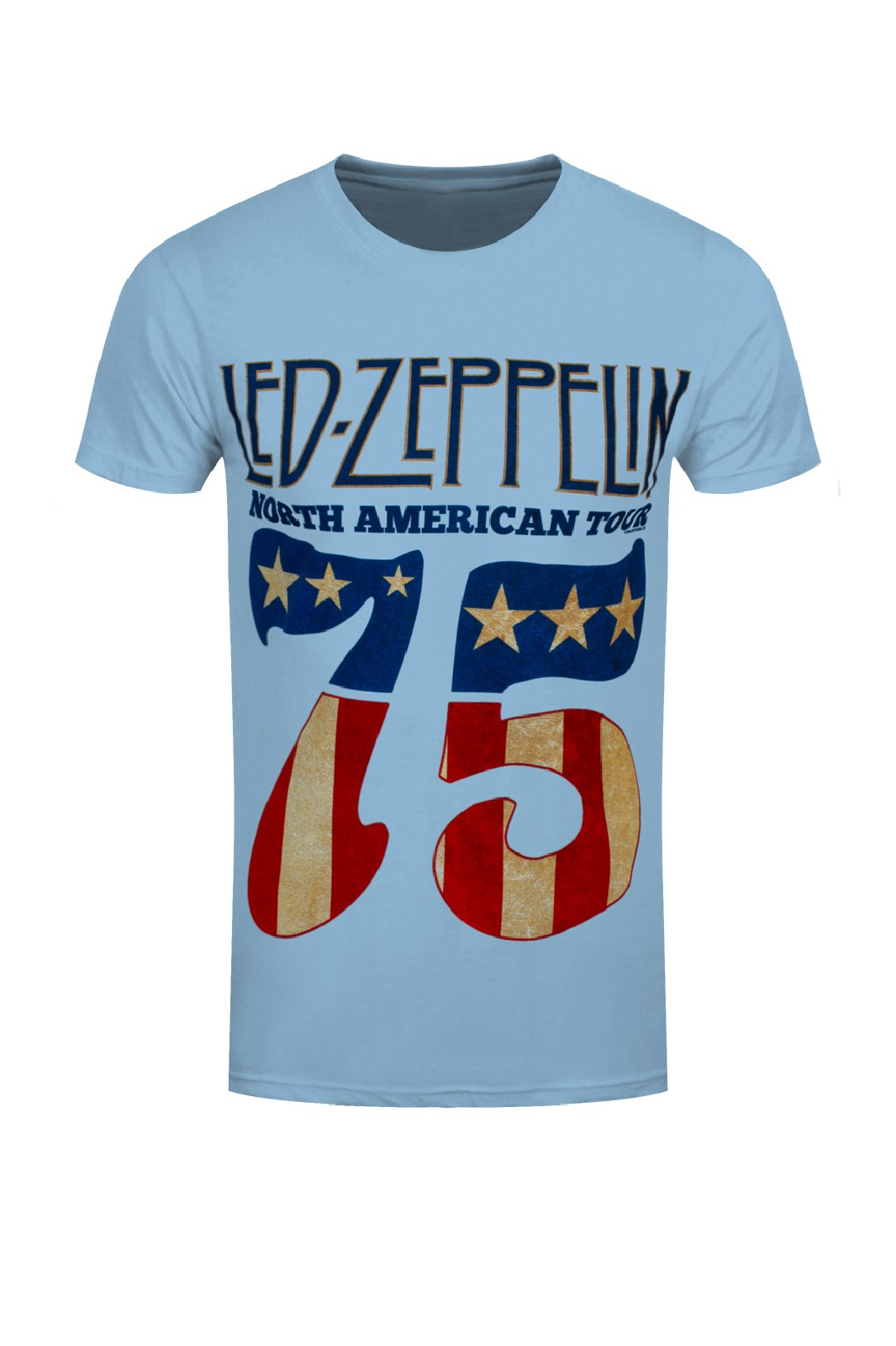 Tee Led Zeppelin 1975 North American Tour Blue