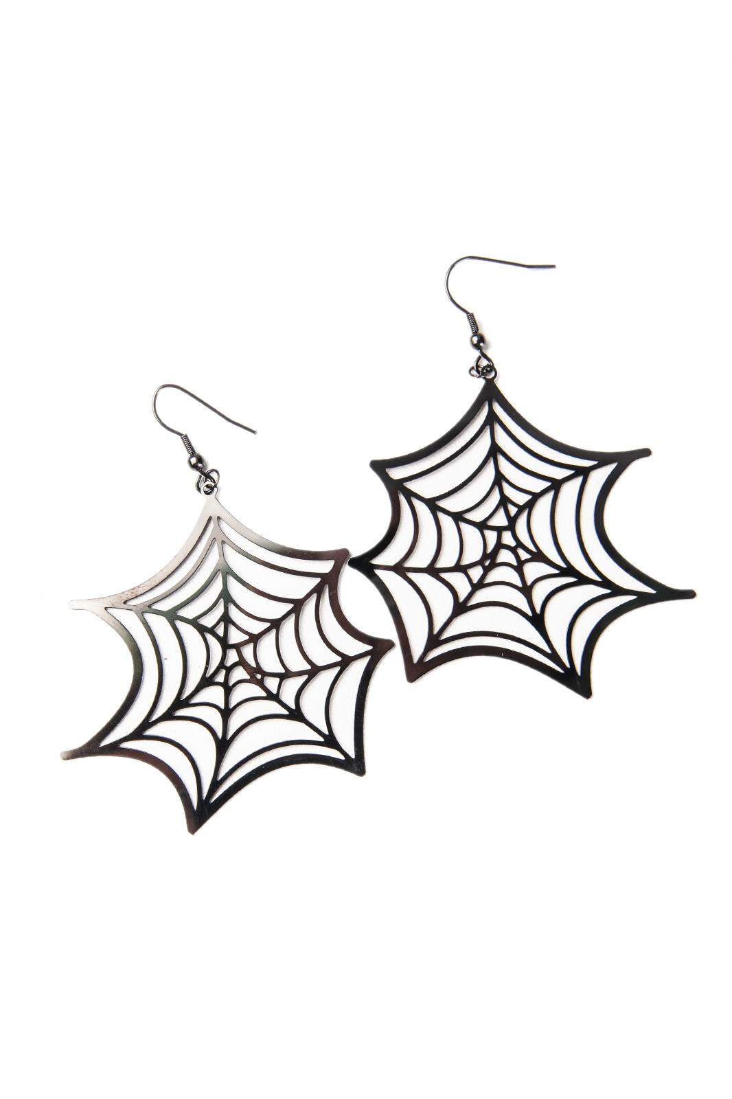 Spider Web Stainless Steel Earrings
