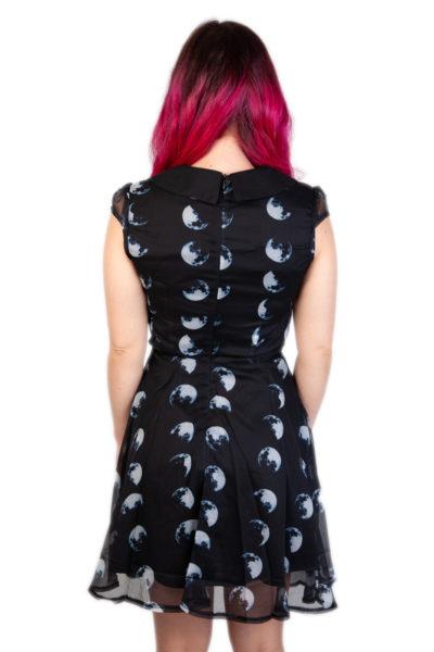 Tidal Moon Phase Dress Black