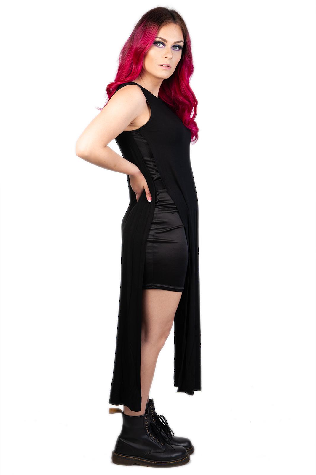 Jersey Side Detail Dress Black
