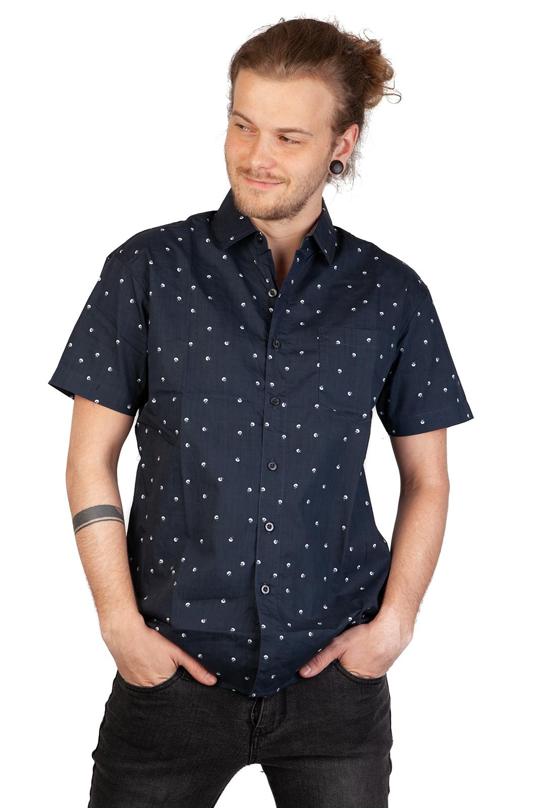 Polka Skull Shirt Black