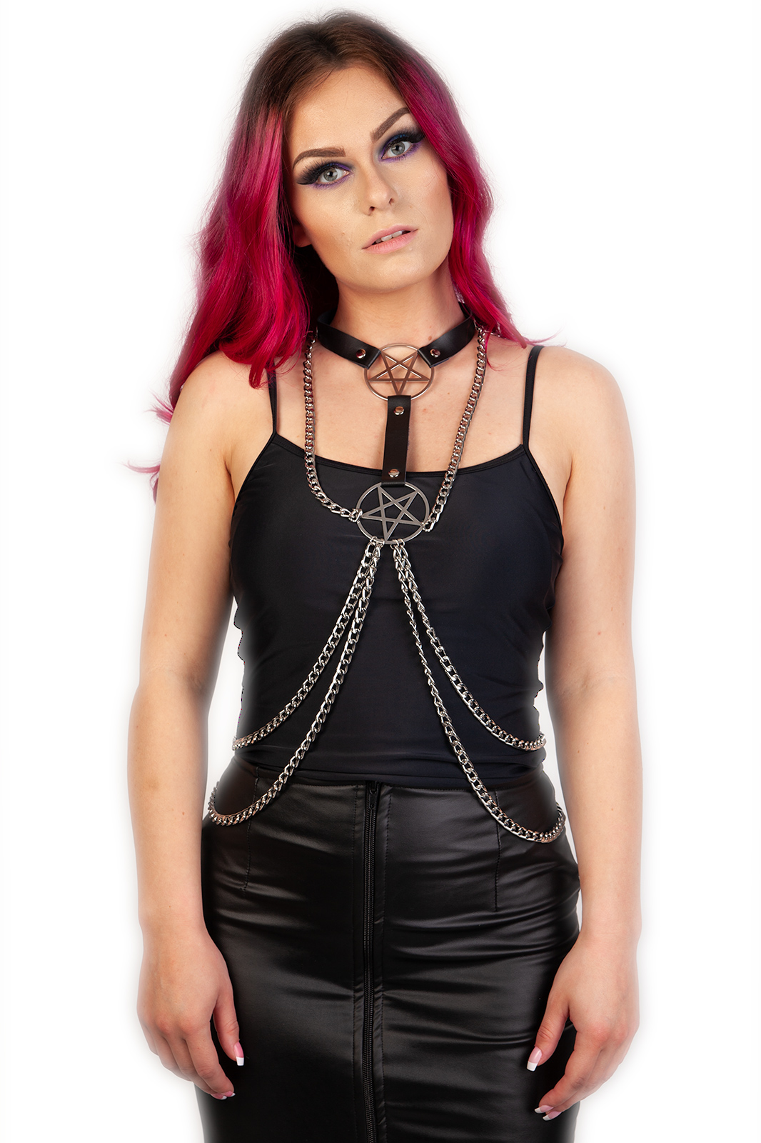 Pentagram Double Chain Harness
