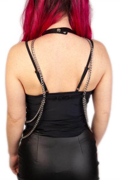 Pentagram Double Chain Harness