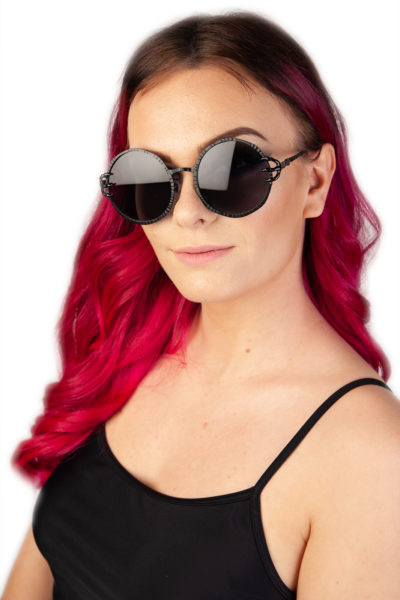 Clawed Round Black Sunglasses