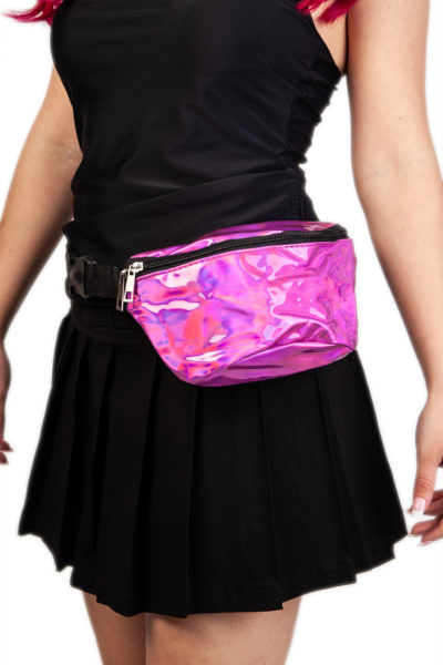 Pink Hologram Bum Bag