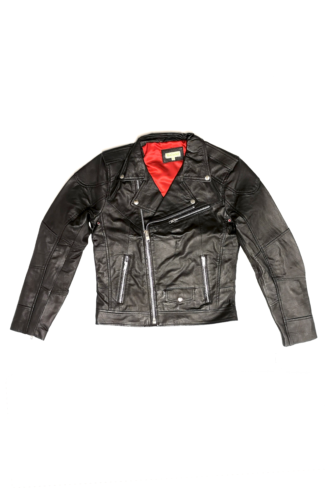 Rich Leather Jacket Boys Black