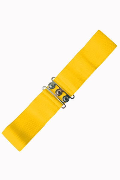 Vintage Stretch Belt Yellow