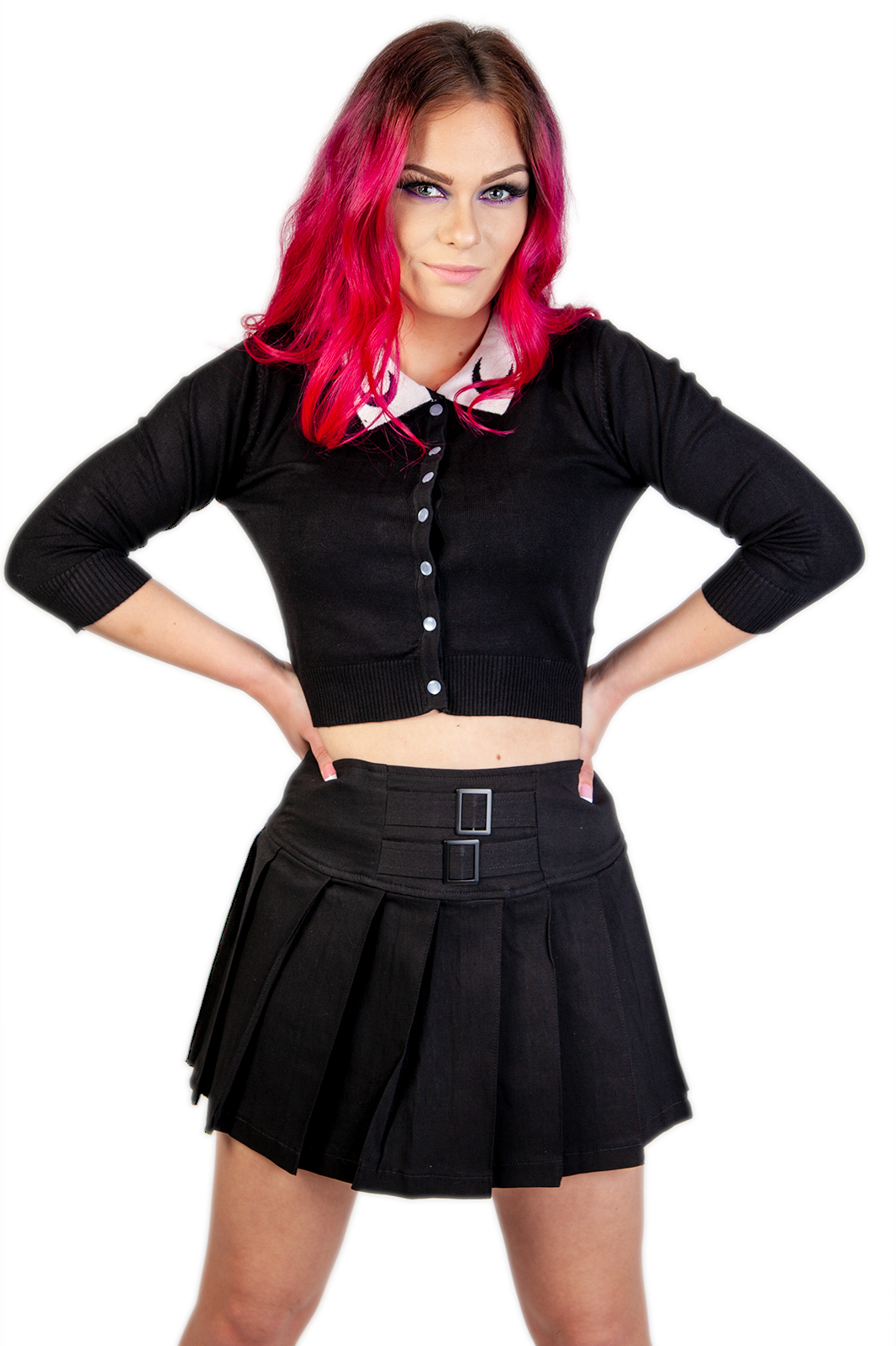 Strapped In Mini Skirt Black