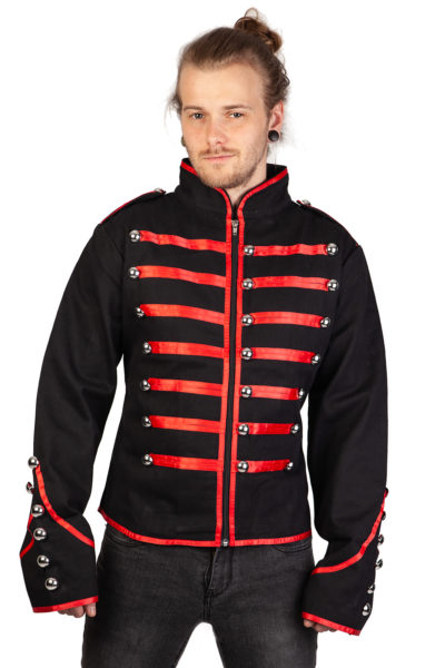 Admiral Jacket Red Piping Black