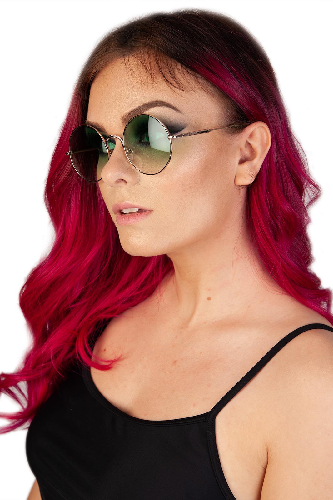 CCM Round Sunglasses Green