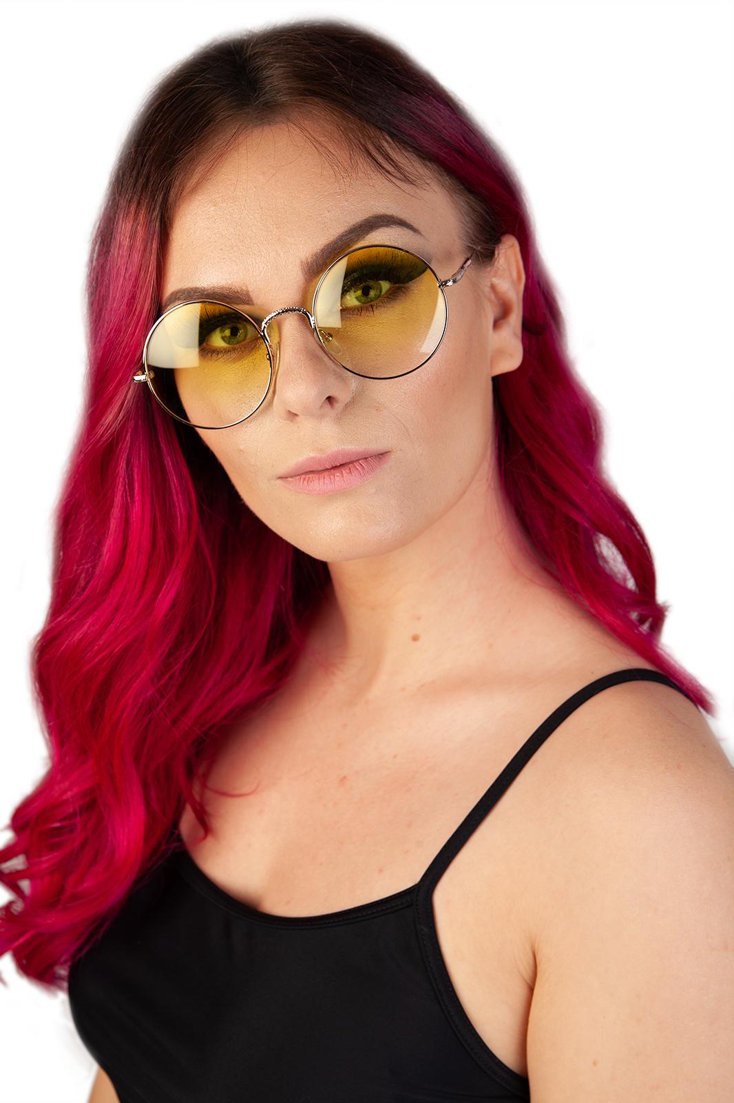 CCM Round Sunglasses Yellow