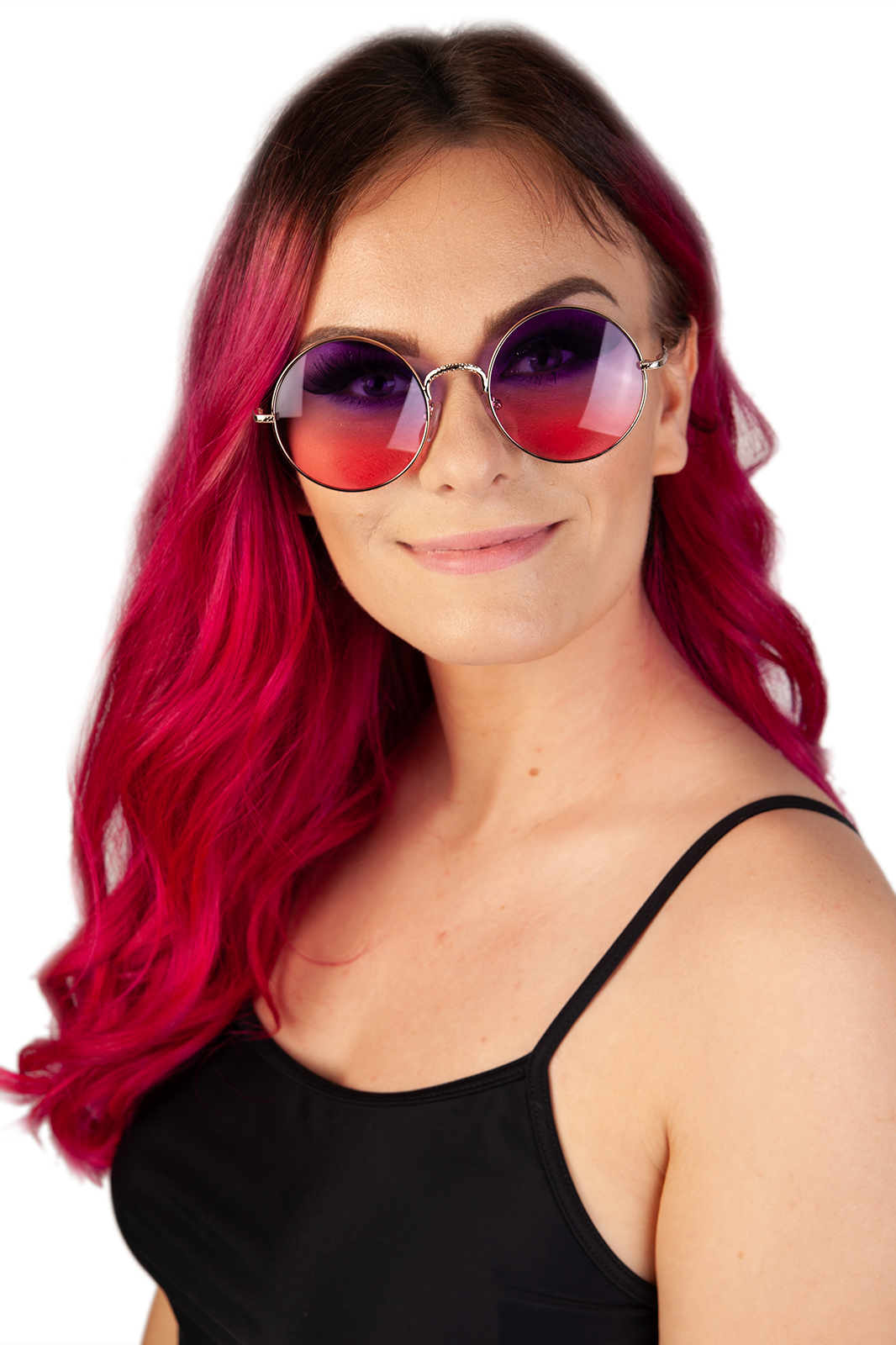 CCM Round Sunglasses Purple/Pink