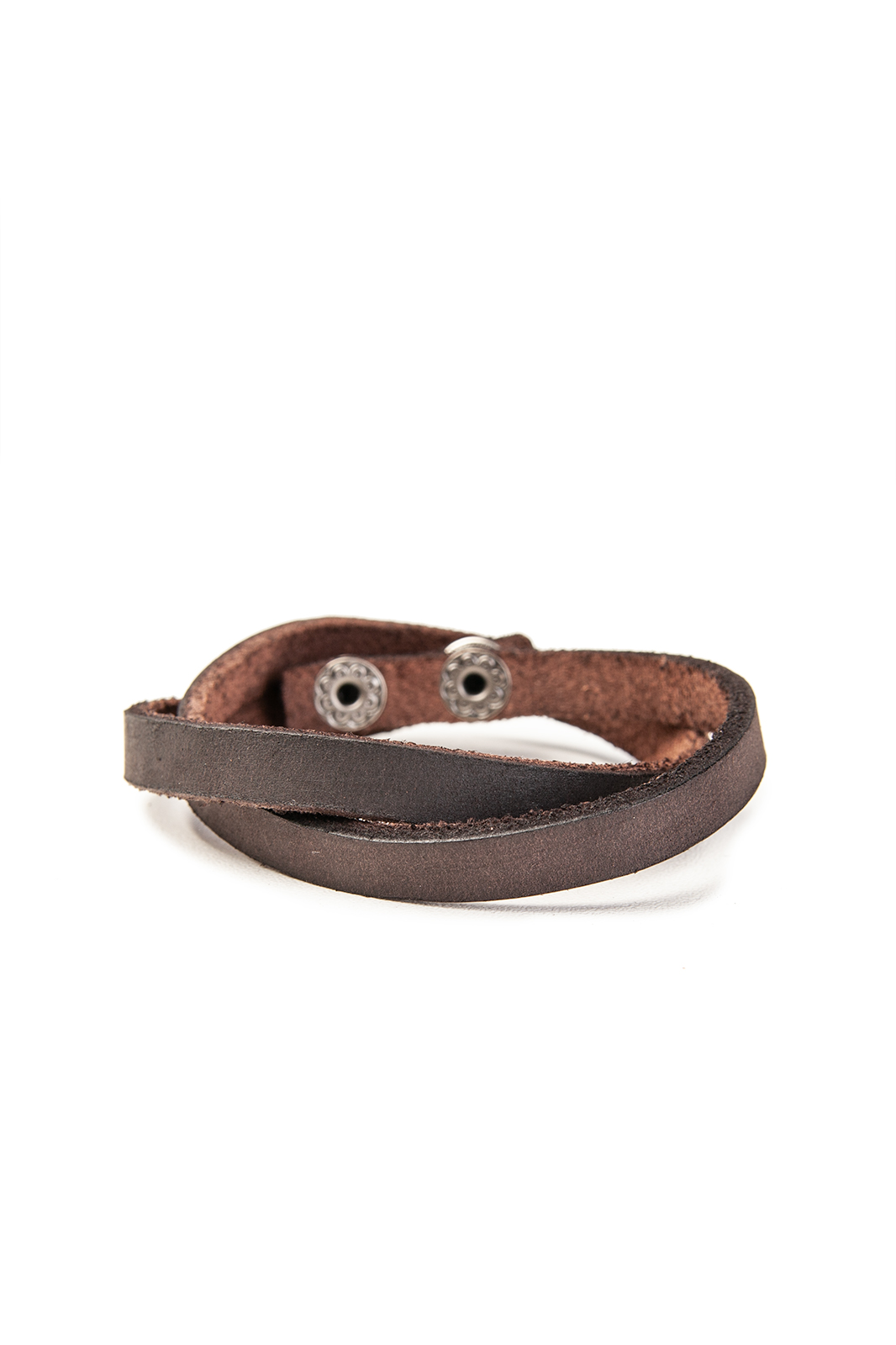 Brown Twist Leather With Zinc Alloy Bracelet