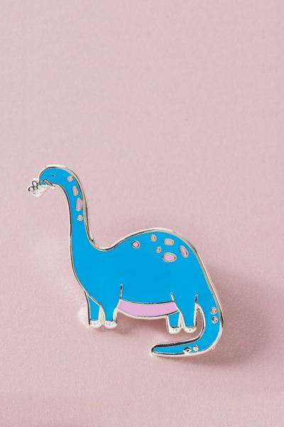 Blue Dinosaur enamel Pin