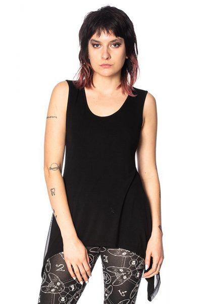 Urban Vamp Vest Top Black