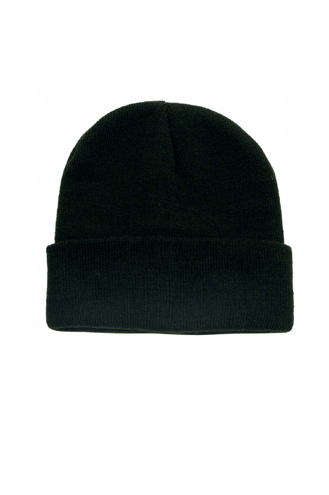 Fine Knitted Watch Cap Black