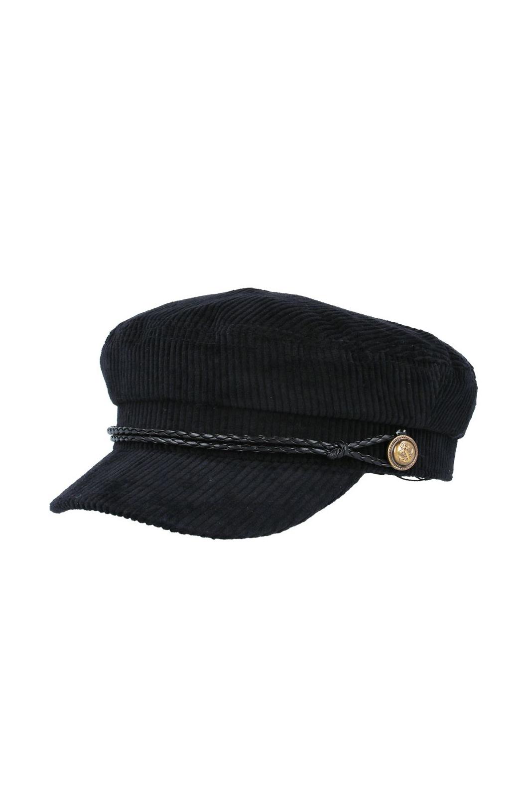 Maz Corduroy Breton Hat Black