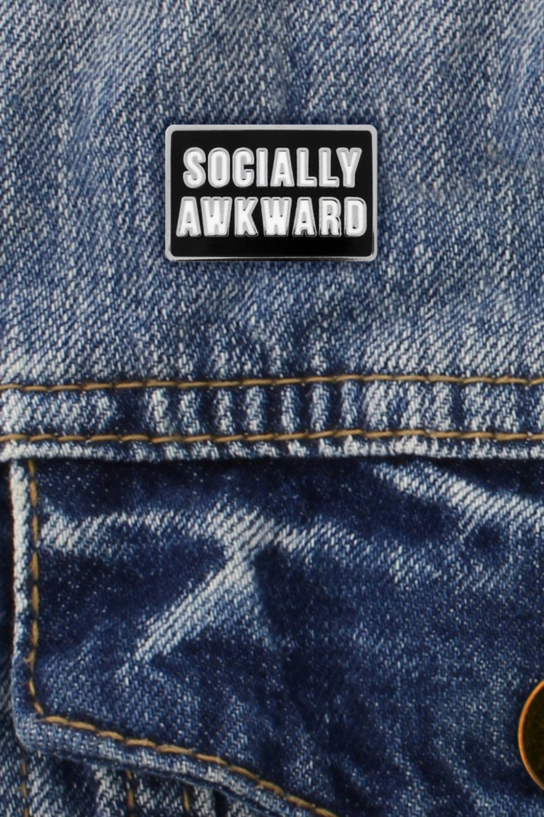 Socially Awkward Enamel Pin
