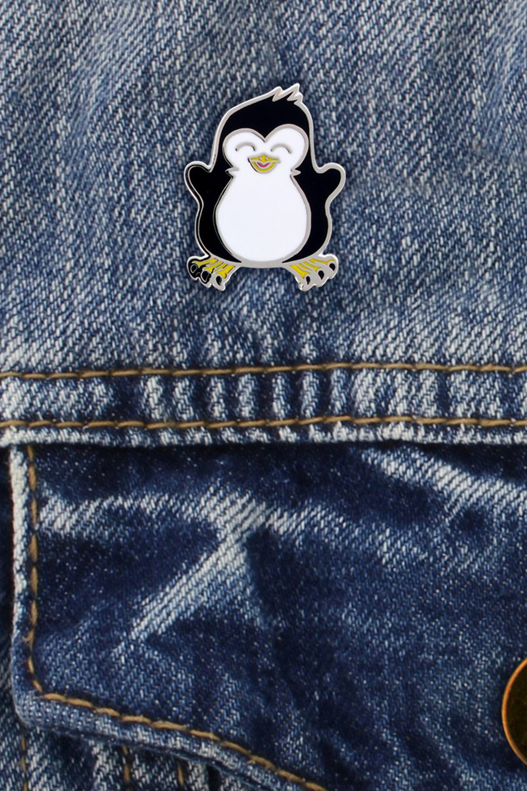 Psycho Penguin Enamel Pin